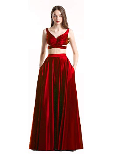 Lisa Women's Two Piece Prom Dresses Formal Evening Gowns LS029