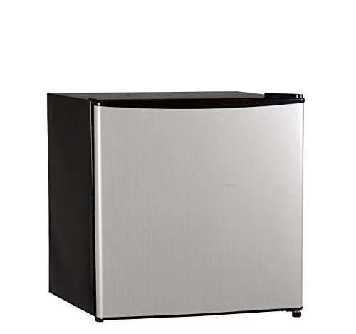Compact Fridge (Midea WHS-65LSS1 Compact Single Reversible Door Refrigerator and Freezer, 1.6 Cubic Feet, Stainless Steel)
