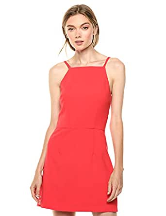 French Connection Womens 71HZO Women's Whisper Light Dress Sleeveless Dress - red - 0