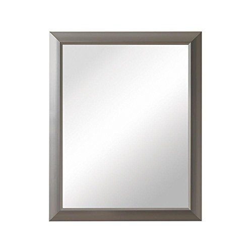 Barrington 15 in. W x 19 in. H x 5 in. D Framed Recessed or Surface-Mount Bathroom Medicine Cabinet in Satin Nickel ()