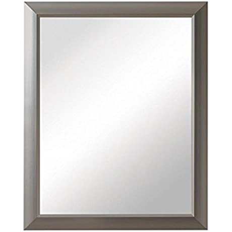 Barrington 15 In W X 19 In H X 5 In D Framed Recessed Or Surface Mount Bathroom Medicine Cabinet In Satin Nickel