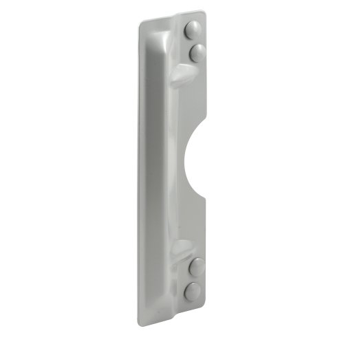 Prime-Line Products Prime-Line U 9503 Latch Guard Plate Cover - Protect Against Forced Entry, Easy to Install on Out-Swinging Doors - Gray, 3