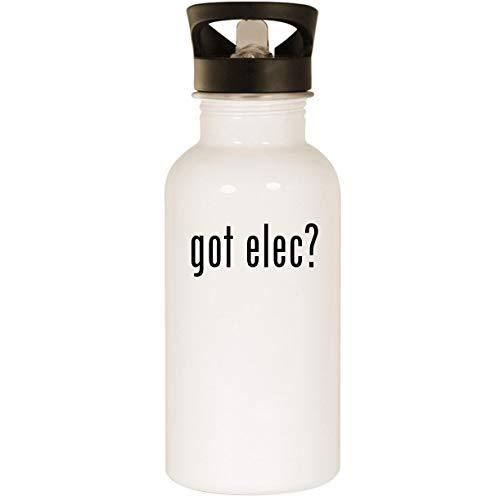 got elec? - Stainless Steel 20oz Road Ready Water Bottle, White
