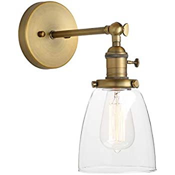 Pathson Vintage Wall Sconce With On Off Switch Clear