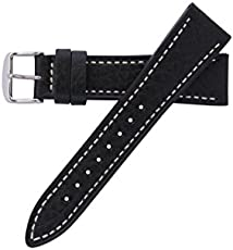 ee461bcbc70 Hadley-Roma Men s MSM894RA-200 20-mm Black Genuine Leather Watch Strap