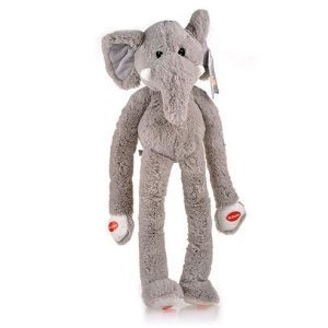 Multipet Safari Elephant Swingin Large Plush Dog Toy with Extra Long Arms and Legs with Squeakers