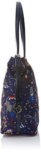 Piero Guidi Damen Reversible Tote Bag, 34x32.5x16 centimeters Blau (Royal)