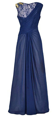 MACloth Women Chiffon Long Mother of the Bride Dress Formal Evening Party Gown Morado