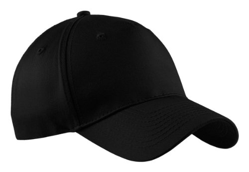 Port & Company Men's Five Panel Twill Cap OSFA Black