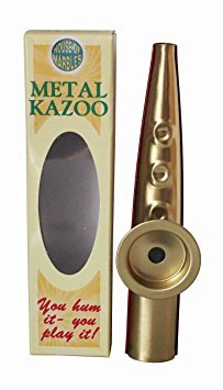 mium Quality Metal Kazoo Hum to Play Musical Instrument ()