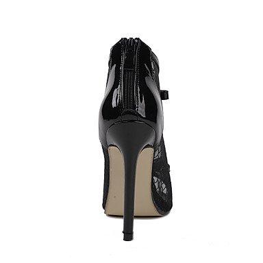LvYuan Mujer-Tacón Stiletto-Confort Innovador-Sandalias-Boda Oficina y Trabajo Vestido Informal Deporte Fiesta y Noche-Cuero Patentado-Negro Black
