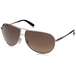 Carrera New Gipsy/s Aviator Sunglasses, Semi Matte Gold/Brown Gradient, 64 mm