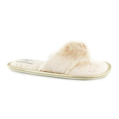Pretty You London Slippers Trixie Perzik