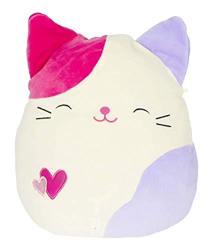 "Squishmallows 8"" Valentine Plush Toy - Tiffany The Pink Calico Cat"