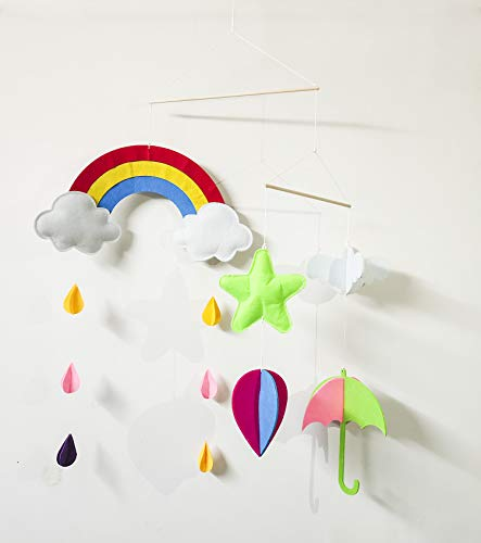 - Baby Crib Mobile,Rainbow Mobile Baby,Stars Baby Crib Mobile,Umbrella Baby Crib Mobile,Hot Air Balloon Baby Mobile,Clouds Baby Mobile, for Nursery Baby,Kids Room Decor Gift