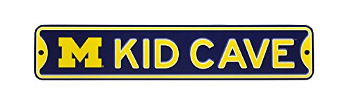 Fan Room Sign - NCAA College Officially Licensed STEEL Kid Cave Sign-Decor for sports fan bed room! ... (Michigan Wolverines)