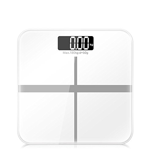 Slim Household Electronic Weight Scale with LCD Display - White by OLSUS