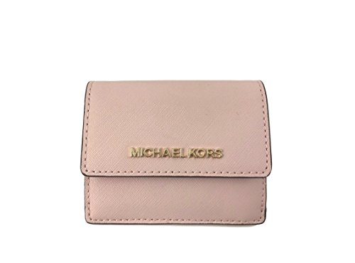 Michael Kors Jet Travel Credit Card Case ID Wallet with Key Ring (Blossom) (Ring Womens Wallets Key)