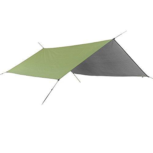 Dog Nylon Tent - YUEDGE Portable Lightweight Waterproof Rain Tarp Rain Fly Tent Tarp Shelter Sun Shade(L Army Green)