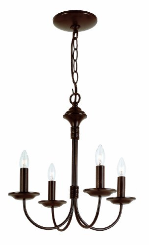 Trans Globe Lighting 9014 ROB Indoor Candle 14.5 Chandelier, Rubbed Oil Bronze