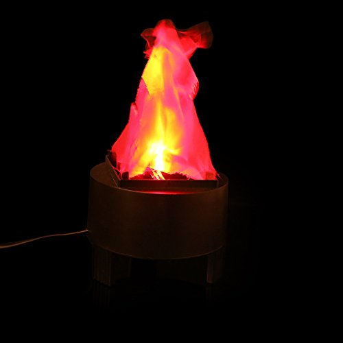 Yumian LED Fake Flame Lamp Torch Light Fire Pot Bowl Festival Holiday Party Home Decor Hanging Silk Lamp
