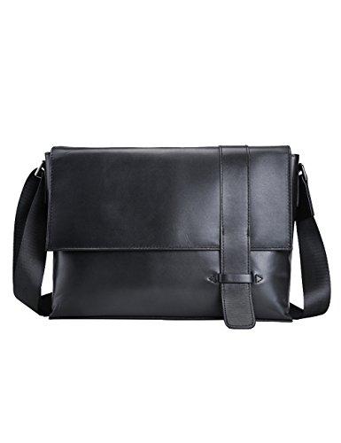 Coffee Men Menschwear Leather Black Genuine Crossbody Bag 1035 Briefcase w0qqnfdrxg