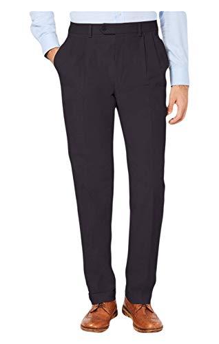 Ralph Lauren Lauren Men's Classic/Regular Fit Corduroy Double Reverse Pleated Dress Pants (Slate, 42x30)