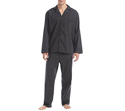 Hanes Size Tall Men's Broadcloth Pajama Set, Black Extra ()