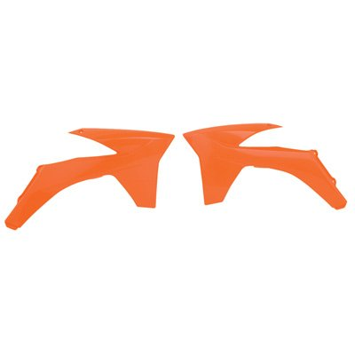 2012 Shroud - Polisport Radiator Scoops KTM Orange for KTM 200 XC-W 2012-2013