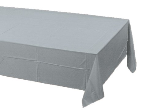 Rectangular Paper Table Cover (Creative Converting Paper Banquet Table Cover, Shimmering Silver)