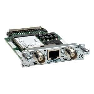 Cisco EHWIC-3G-HSPA-U= equipo de red 3G UMTS - Dispositivo de internet móvil (3G, EDGE, GPRS, GSM, HSDPA, HSPA, HSUPA, DSL, Verde, Acero inoxidable, UL 60950-1,CAN/CSA-C22.2 No. 60950-1, EN 60950-1, IEC 60950-1, AS/NZS 60950.1, FCC Part 2.1093, RSS-)