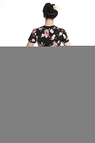 Hell Bunny Freya Robe de Florale Retro Rockabilly