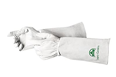 Rose Pruning Gardening Gloves For Men & Women, Premium goatskin leather Garden Gloves, Thorn and Cut Proof with long Gauntlet, available in Small, Medium, Large