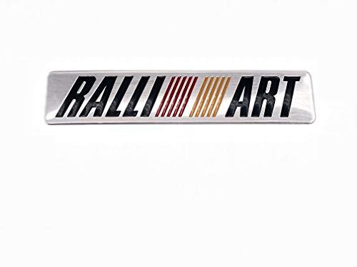 3D Metal Car Emblem Decal RALLIART Logo Auto Body Sticker for Mitsubishi Lancer