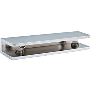 TroySys S3SSC 1100CHR Chrome Rectangular Glass Shelf Bracket. Amazon com  TroySys S3SSC 1100CHR Chrome Rectangular Glass Shelf