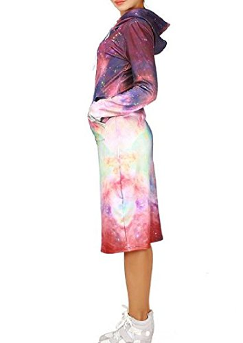 Dress Picture Comfy Print Floral Mid Slim Fit Womens Plus Velvet Hooded As Star 7v7WfqUw