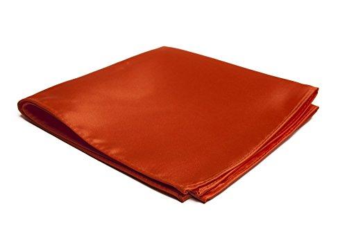 Jacob Alexander Men's Pocket Square Solid Color Handkerchief - Orange