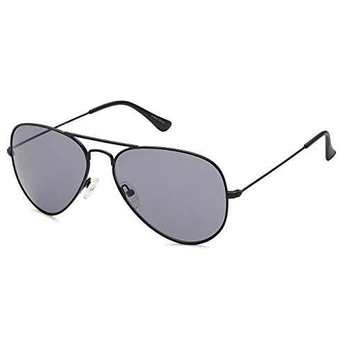 JETPAL Premium Classic Aviator Sunglasses w Flash Mirror and Polarized Lens Options UV400 (Non Polarized Grey Lens Black - Flash Rb3025 Lenses Aviator