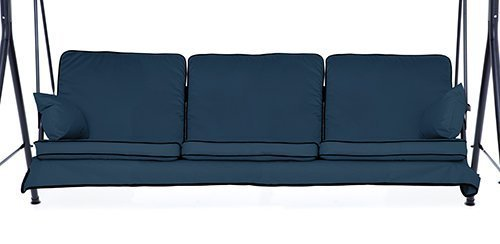 Navy Blue Complete Replacement Cushions Set for 3 Seater Swing Seat Hammocks Gardenista