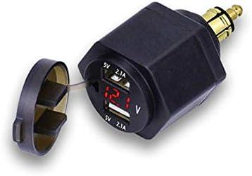 Bweele Boordstopcontact dubbele USBoplader adapter met ledvoltmeter voor BMW motorfietsmobiele telefooniPhoneGPSSatNav