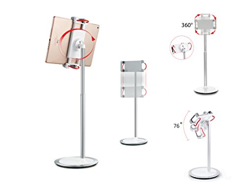 idee PTS02W Height & Angle Adjustable Commercial Graded Aluminum Table Stand for iPads Tablets and Smart Phones, 360 Degree Rotate Mount Designed for Store POS, Office & Home Desktop and more by idée (Image #2)