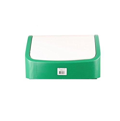 Lucy CL055-GN Polypropylene Indoor Swing Top Lid for 50 L Waste Bin Green