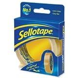 Sellotape Original Golden Tape Roll Non-static Easy-Tear 24mmx50m (Pack of 6)