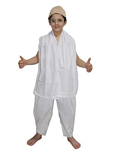 Gandhi Ji fancy dress for kids,National Hero/freedom fighter Costume for Independence Day/Republic -