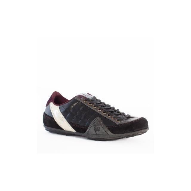 Le Coq Sportif Trainers Shoes Mens Edmonton Colors Leather Black