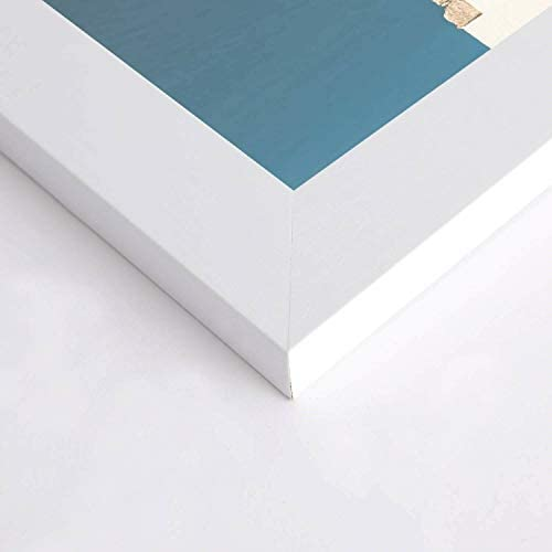 US Art Frames 3x3 Chalk White Flat 1.25 Inch Smooth Wrapped Finish Wood Composite Wall Decor Picture Poster Frame