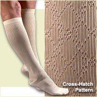 FLA Activa Women's 15-20 mmHg Cross Hatch Pattern Dress Socks - X-Large - Tan