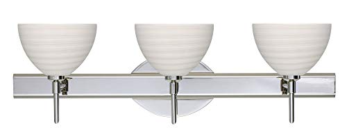 Brella Chalk Chrome Three Light Bath ()