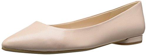 Nine West Women's Onlee Leather Ballet Flat, Pale Pink, 39 B(M) EU/7 B(M) UK