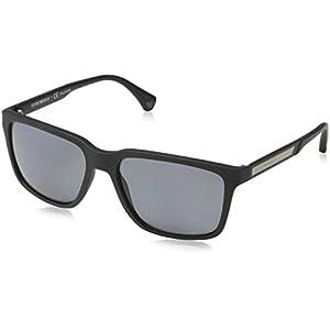 Emporio Armani EA 4047 Men's Sunglasses Black Rubber 56